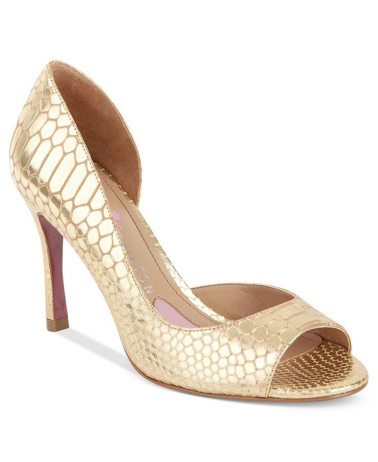 Paris Hilton Blayne Evening Pumps - gold prom shoes