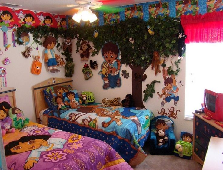 Dora bedroom decorations for Dora themed bedroom designs