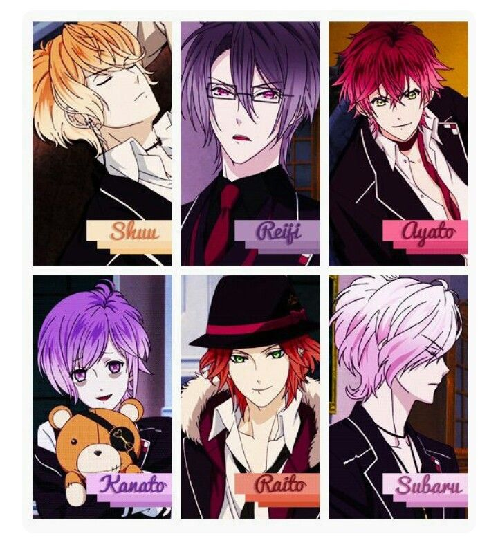 The Sakamaki Brothers Shu Reiji Ayato Kanato Raito And Subaru Diabolik Lovers Anime Kawaii Personagens De Anime Anime Meme
