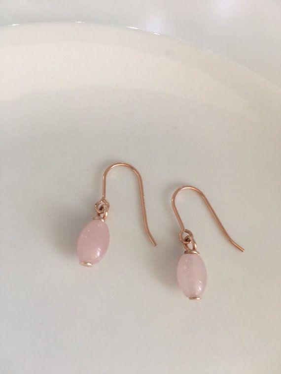 Rose gold earrings Rose gold filled by CharlotteFarrBridal on Etsy