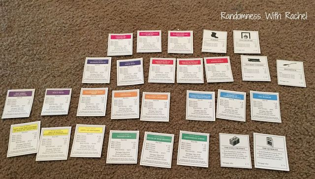 Randomness with Rachel: Craft Project: Harry Potter Monopoly