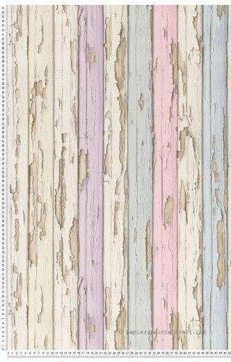 Peinture écaillée multicolore - Papier peint Dekora Natur d'AS Création