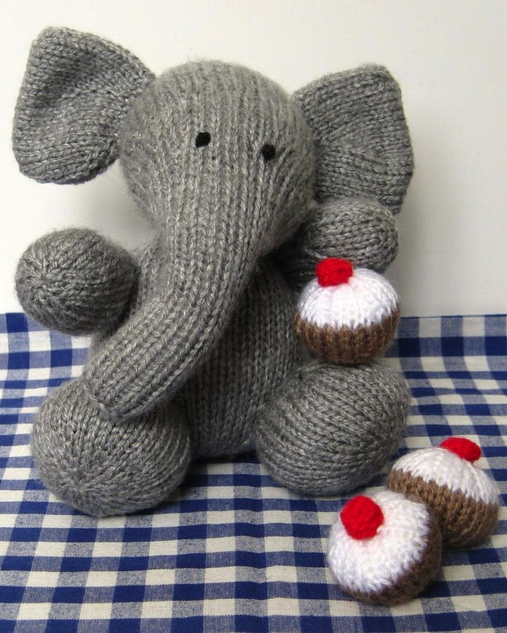 Elephant toy knitting pattern. The cutest patterns for stuffed toys here