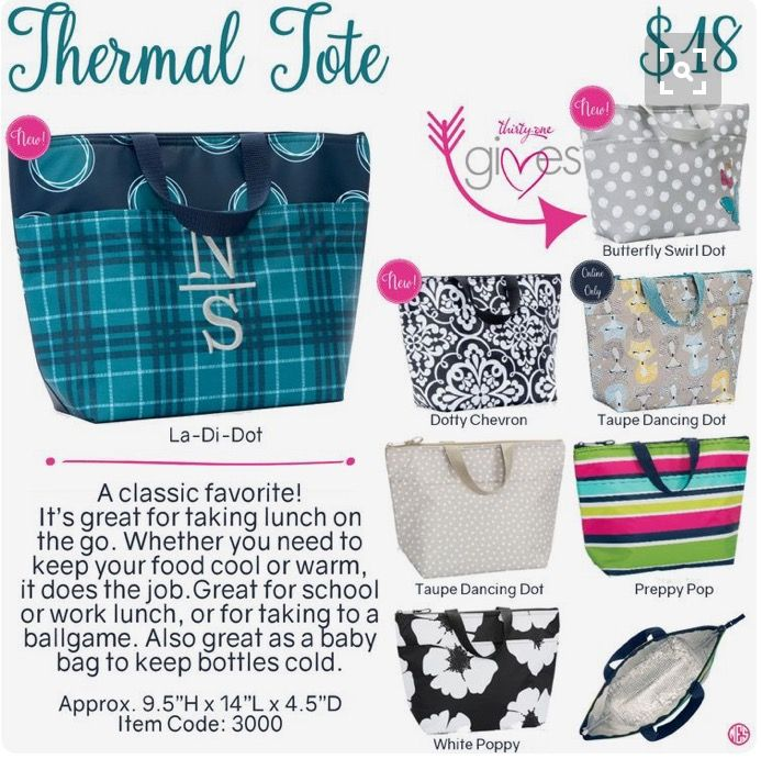 Thirty/One's thermals www.bagsandbins.com