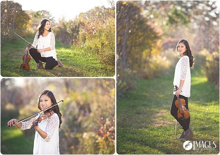 So much fun to feature her love of the violin in this beautiful senior portrait shoot! - Images by Jennifer -  Holland MI Senior Photographer -  Awesome Senior Pictures