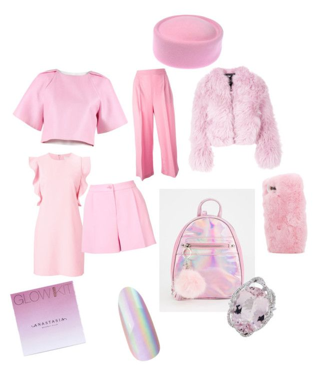 """""""scream gueen"""" by jasmimosa on Polyvore featuring Charlotte Simone, TIBI, Witchery, MSGM, Boutique Moschino, Wild & Woolly and Anastasia Beverly Hills"""