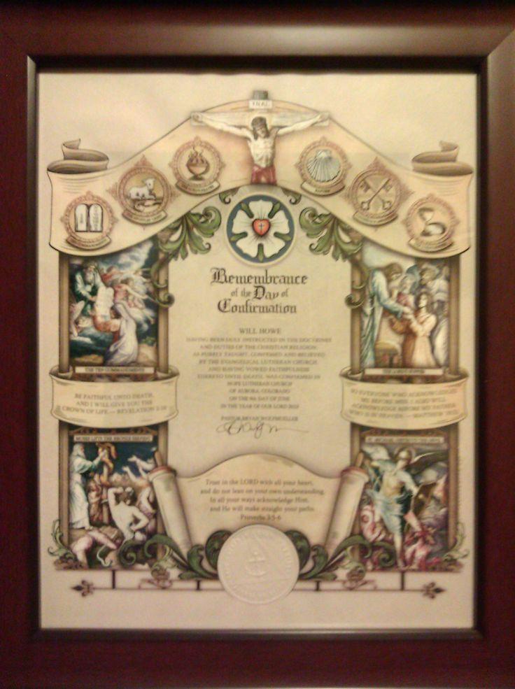 lutheran confirmation certificate missouri goliath david