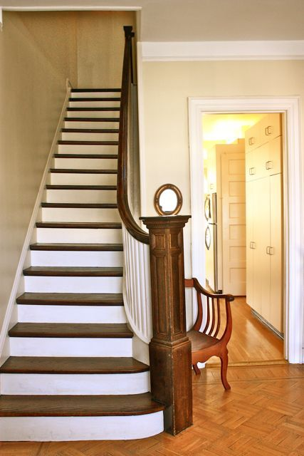1000 ideas about painted wood stairs on pinterest - Interior stair treads and risers ...