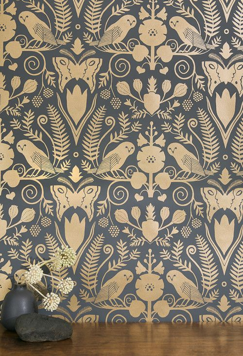 Carson Ellis Wallpaper for Juju Papers at Design*Sponge