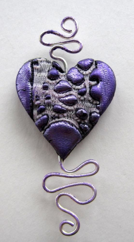 Lavender Blue - Ooozed Heart Pendant Tutorial Using Friendly Plastic