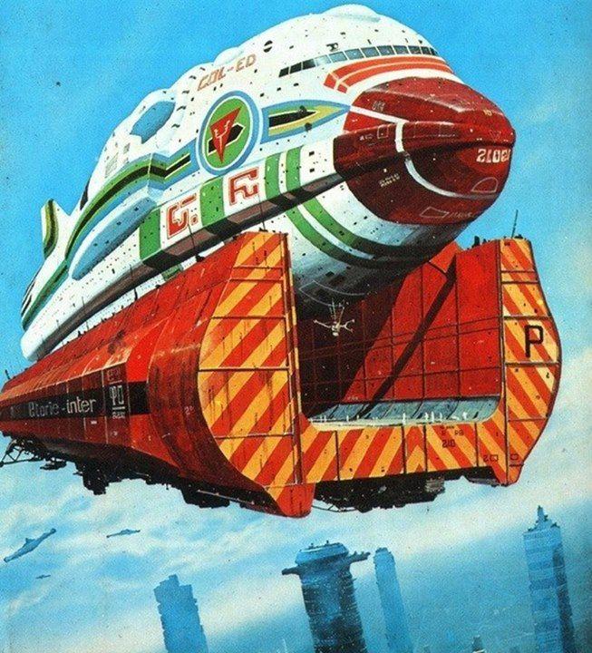 Vintage Sci Fi Art Added A New Photo: 228 Best Illustrations De Chris Foss ( Angleterre ) Images