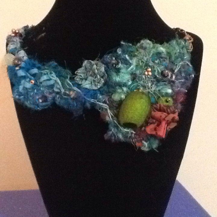 Silk fibre Necklace