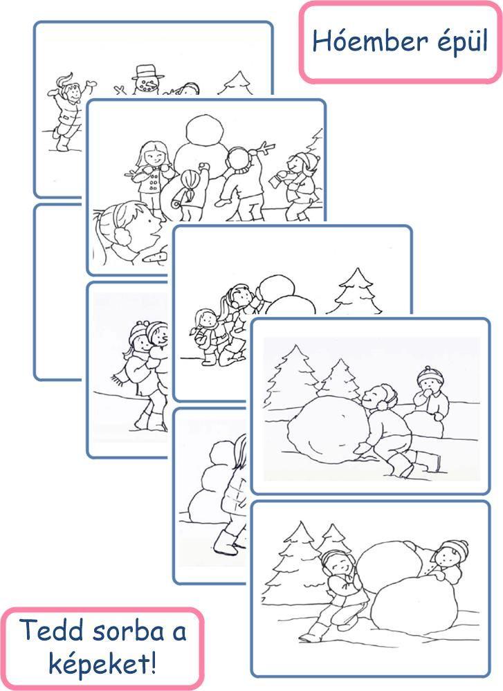 Hóember épül - letölthető eseménykártyák - Gyereketető