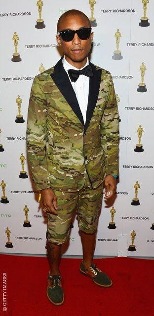 Man of Style 02_Pharrell Williams Camo Suit in Shorts Lookbook # 06