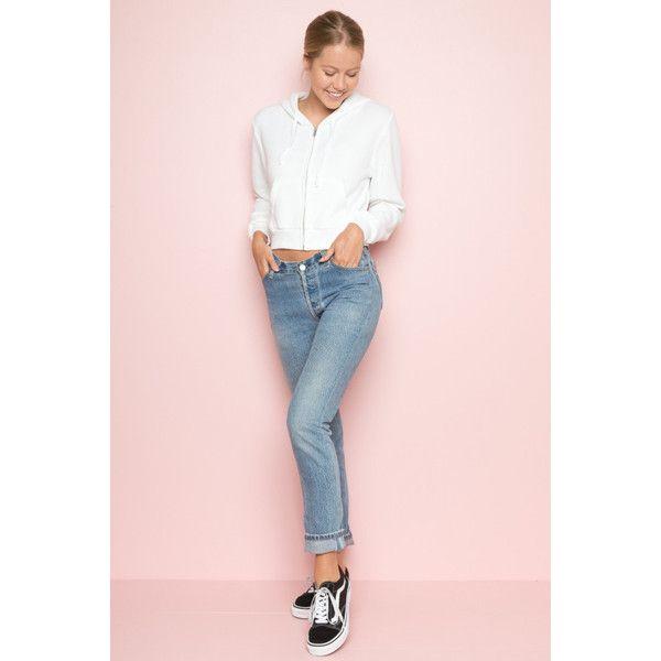 Crystal Hoodie ($28) ❤ liked on Polyvore featuring tops, hoodies, pink hoodies, pink zip up hoodies, cropped hoodies, fleece lined zip up hoodie and pink zip up hoodie