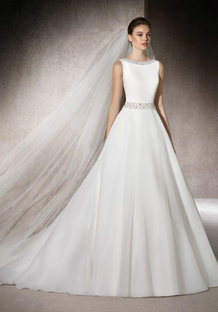 Best 25 boat neck wedding dress ideas on pinterest Wedding dress neckline types