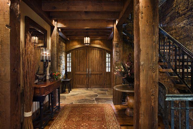 Interior Entry - WOWRustic House, Decor Ideas, House Design, Future House, Dreams House, Beautiful Foyers, Rustic Foyers, Front Doors, Interiors Entry