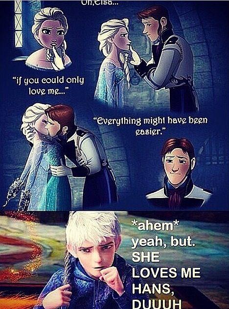 Jack and Elsa.... I ship jelsa but that top comic is an interesting idea...