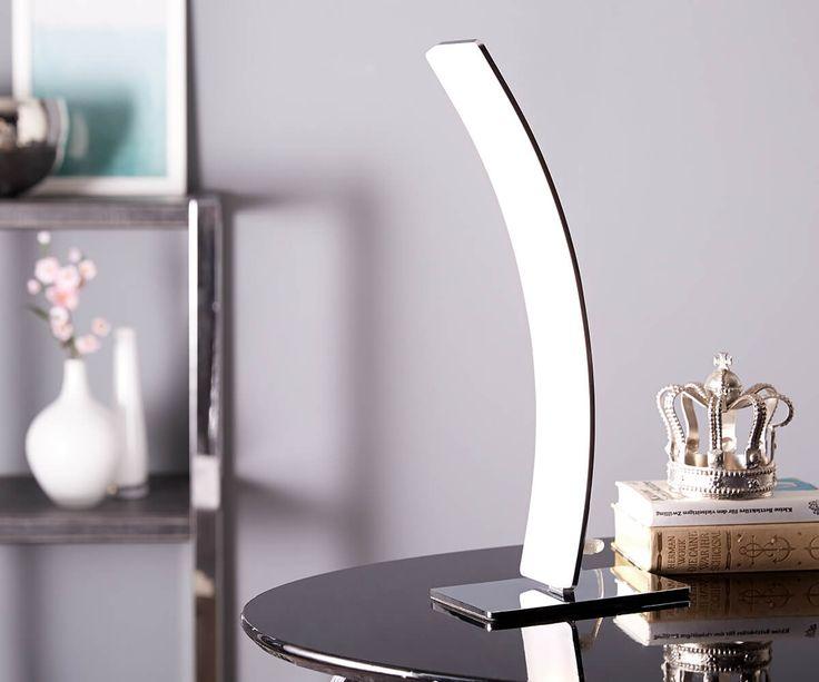 DELIFE LED-Tischleuchte Stavros Silber 15 Watt warmweiss Aluminium, Tischleuchten 10491