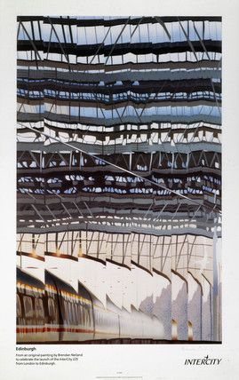 Neiland, Brendan -- Edinburgh, British Rail poster, c 1991. The -- High quality art prints, canvases, postcards, mugs -- SSPL Prints