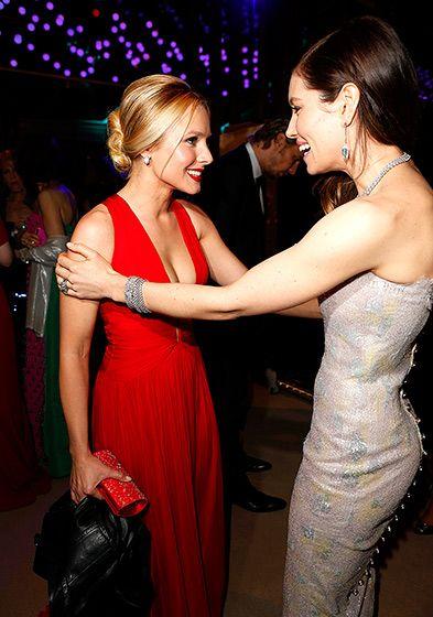 Kristen Bell and Jessica Biel