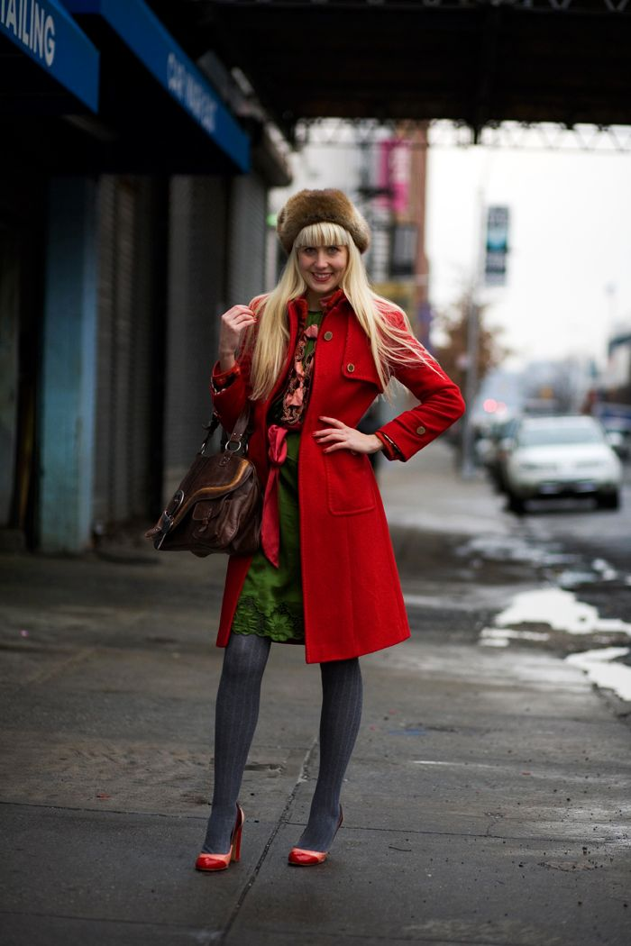 I love red coats! So lucky I found one in the local op shop - defs a must for colder months