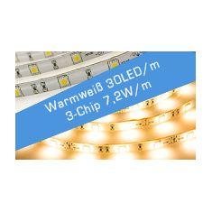 LED Streifen Warmweiß 30 LED/m 3C