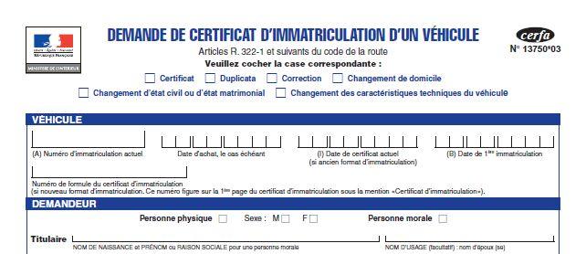 Formulaire Cerfa 13750 03 Code De La Route Changement Remplir