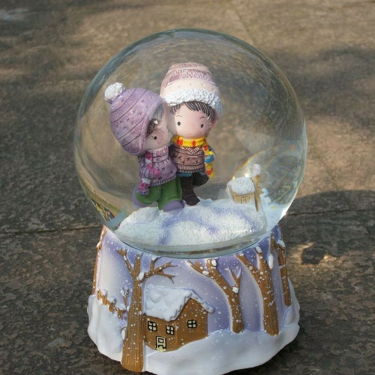 bola de cristal caja de música