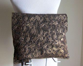 Cruz de cuero grande gran tamaño enorme embrague bolsa bolso bandolera Body - bruto y rústico con borde - textura cuero decorativo
