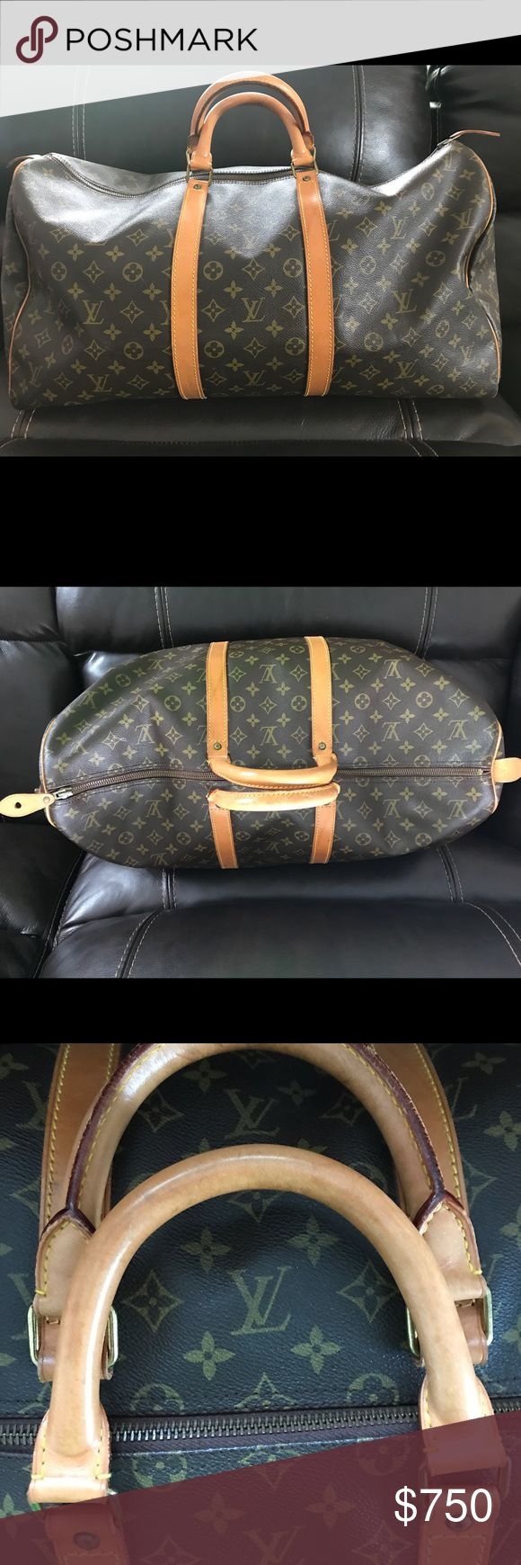 Louis Vuitton Keepall 55 Authentic preloved Keepall 55 - Bag is in very good use condition. Light scuffs on leather handle. Can be purchased through 🅿️🅿️ with free shipping. More photos or questions, please email dkangnavong @ gmail. Thanks for looking! Louis Vuitton Bags Travel Bags
