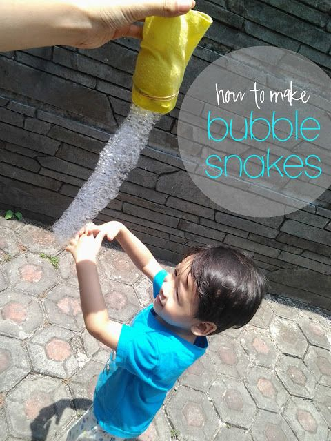 Smells Like Coffee:  How to make bubble snakes.