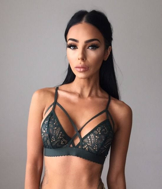 Lexis Harness Bralette - Green | Sorelle UK