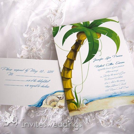 Cheap Beach Wedding Inspirations And Invitations