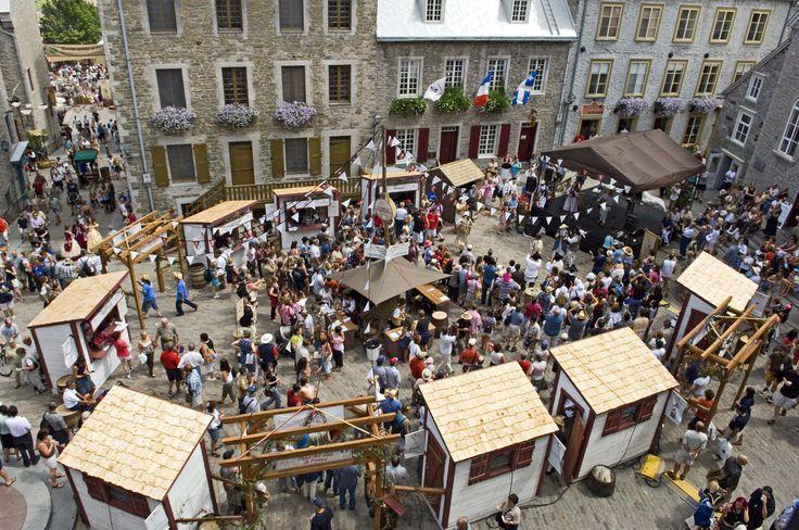 Place Royale, Québec, Fêtes de la Nouvelle-France Crédit photo:Alain Vinet