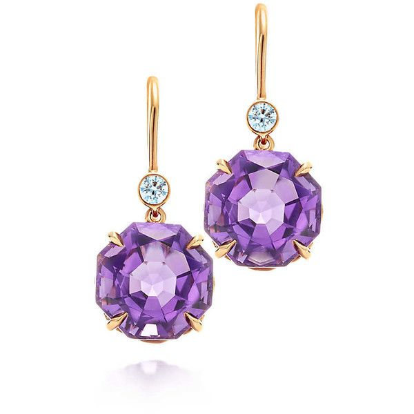 Tiffany Sparklers Amethyst Drop Earrings (6.880 BRL) ❤ liked on Polyvore featuring jewelry, earrings, brincos, tiffany, drop earrings, tiffany co jewellery, earrings jewelry, 18 karat gold earrings and amethyst jewellery
