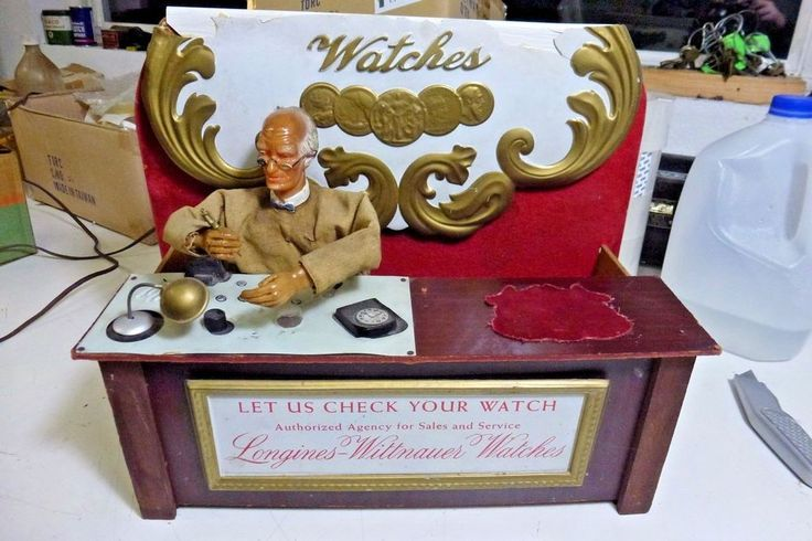Vintage 1950's Longines Wittnauer Mechanical Watch Display Animated Jeweler ! !  | eBay Sale! Up to 75% OFF! Shop at Stylizio for women's and men's designer handbags, luxury sunglasses, watches, jewelry, purses, wallets, clothes, underwear