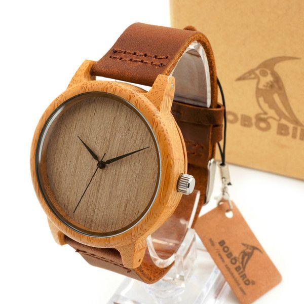 Mens Armbands – Bamboo Wooden Wristwatches – a unique product by yugurdisli on DaWanda