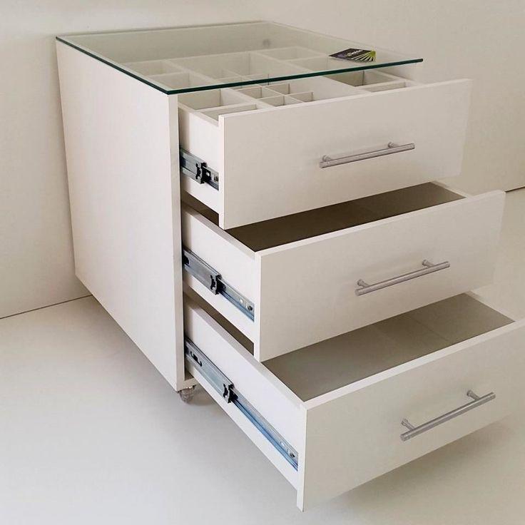 Criado Mudo Penteadeira Porta Joia Branco 3 Gavetas - R$ 499,00 no MercadoLivre