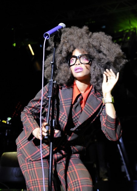 Erykah Badu's style is so singular and unique without having to resort to insincere Gaga-esque shock value.