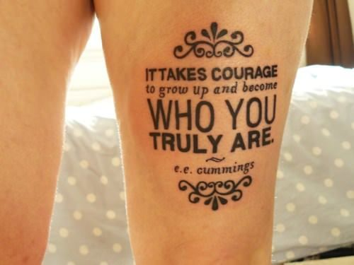The tattoo artist has combined typography, decorative elements and the powerful quote to create a tattoo that is both meaningful and elegantly decorative. Description from rattatattoo.com. I searched for this on bing.com/images