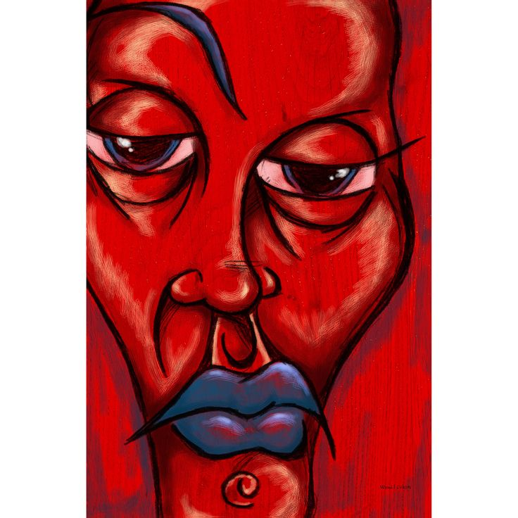 Maxwell Dickson 'Blue Lip' Wall Art