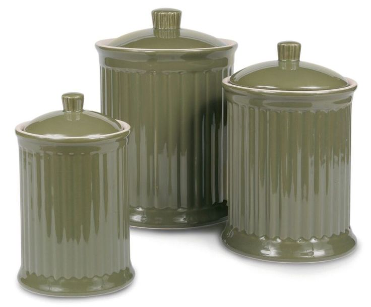 17 Best Ideas About Ceramic Canister Set On Pinterest Kitchen Canisters Tuscan Kitchen Decor