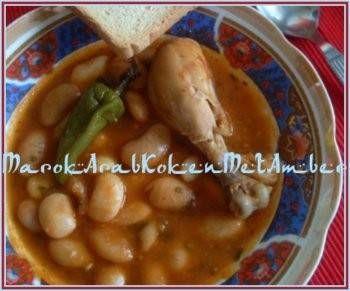 Marokkaanse Witte Bonenschotel Met Kip In Rode Saus recept | Smulweb.nl