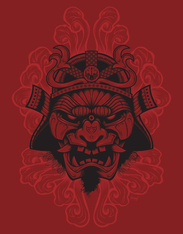Samurai Rockaganda Art Print by Chris Honeywell