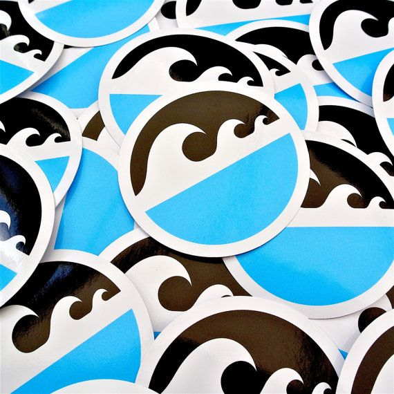 Vitamin Sea surf inspired vinyl sticker pack.  100% waterproof and an awesome addition to your surfboard, skateboard, longboard, laptop, car window or roof box. Vitamin Sea wave sticker size 10cm x 4.8cm Triple Wave badge stickers size 7.5cm Printed using UV stable inks Durable heavy duty waterproof vinyl Strong adhesive backing  Sticker pack includes: 1x Vitamin Sea wave sticker 1x Triple Wave white, blue and black badge sticker 1x Triple Wave black, blue and orange badge sticker  Stickers…