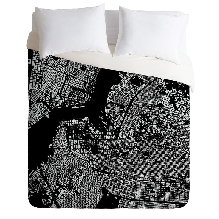 cityfabric inc brooklyn black duvet cover