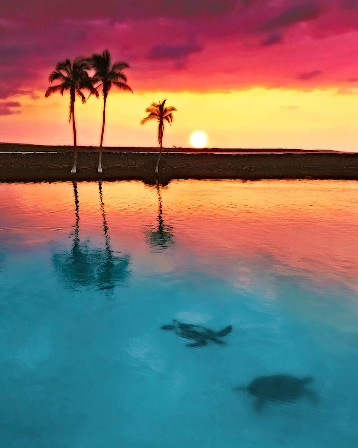 Sunset in Big Island of Hawaii