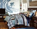Boys Striped Bedding & Hampton Bold Sport Bedroom | PBteen