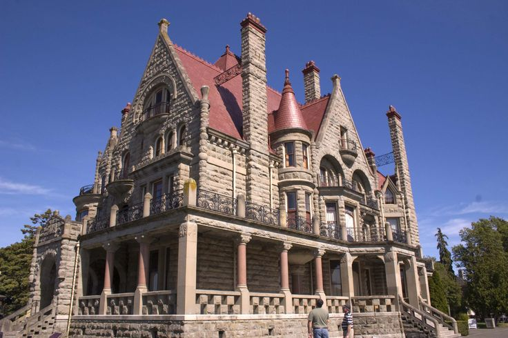 Craigdarroch Castle in Victoria BC on a beautiful summer day. Photo
